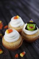 cupcakes do dia das bruxas foto
