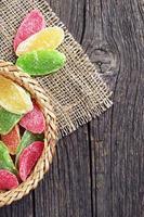 fatias de abacaxi secas foto