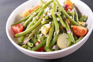Salada do feijão verde foto