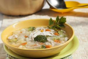 sopa de brócolis com frango foto
