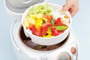cozinhar legumes cozidos no vapor foto