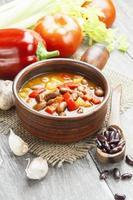 sopa com feijão