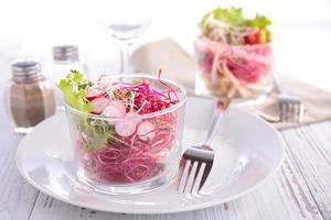 salada de vegetais foto