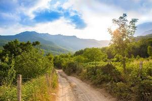 paisagem de montanha da Crimeia