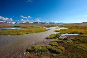 bela paisagem montanhosa foto