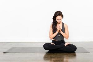 série de ioga - meditação foto