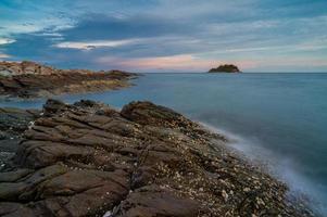 paisagem treinador coral, ilha samed foto