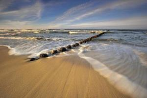 mar Báltico na bela paisagem