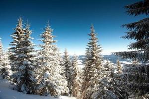 montanhas de inverno
