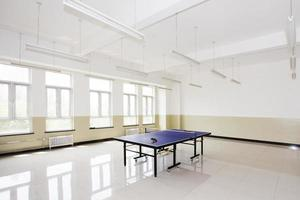 sala de aula de tênis de mesa foto