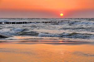 mar Báltico na bela paisagem foto