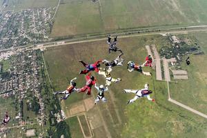 foto de paraquedismo.