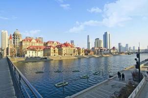 a bela paisagem da cidade de tianjin foto