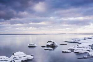 mar de inverno foto