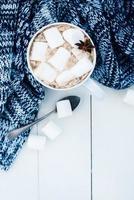fundo acolhedor de inverno em casa foto