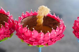 festival loy kratong comemorado na Tailândia foto