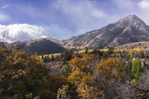outono nas montanhas wasatch ao longo do circuito alpino (utah) foto