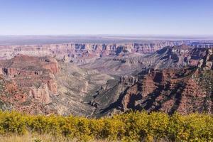 Parque Nacional do Grand Canyon. vista do ponto de roosevelt (borda norte) foto