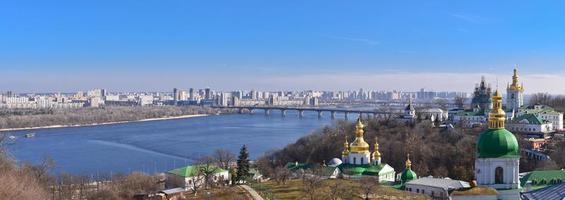 vista panorâmica de kiev de kiev pechersk lavra foto
