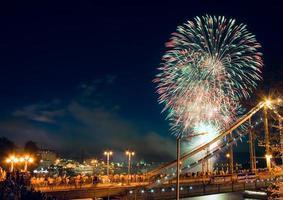 fogos de artifício em kiev foto