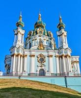 st. a igreja de andrew em kiev, ucrânia.