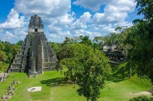 ruínas e pirâmides de tikal foto
