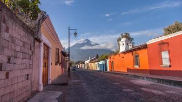 guatemala, antigua, vulcão, viagem - imagem foto