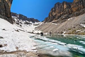 dolomiti - lago pisciadu foto