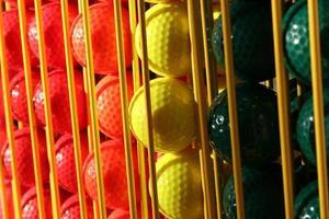 bolas de golfe em miniatura foto