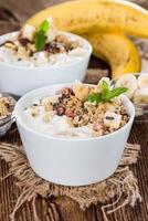 iogurte caseiro de banana foto