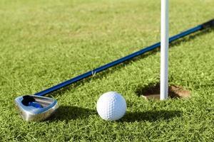 bola de golfe no campo
