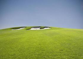 armadilha de areia do campo de golfe foto