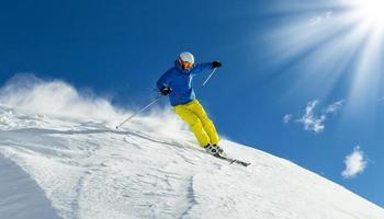 esquiador freerider masculino foto