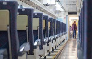 vagão de trem de passageiros foto