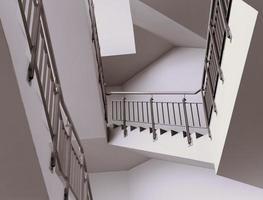 interior moderno da escadaria