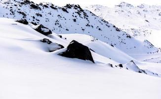 alpes, frança, estação de esqui de val thorens foto