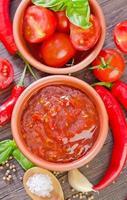 molho de tomate foto