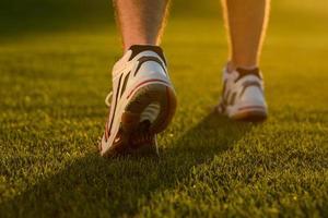 closeup de tênis de corrida. foto