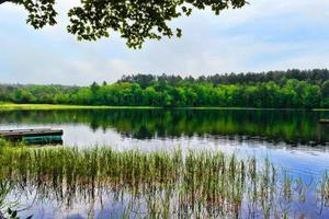 cena da lagoa no verão de maine foto