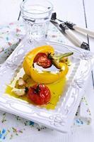 pimentos e tomates foto