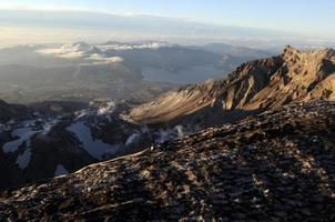 Mount St. helens crater foto
