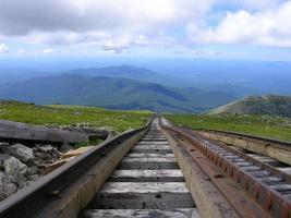 ferrovia de engrenagem em Mount Washington foto