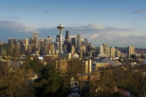 skyline de seattle foto