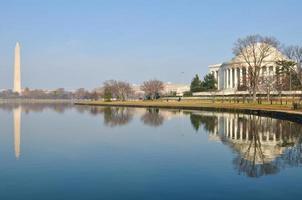 washington dc national mall, incluindo o monumento e jefferson memorial foto