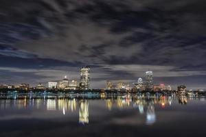 skyline de Boston back bay à noite foto