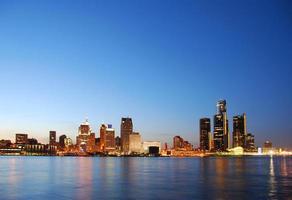 vista panorâmica de detroit michigan foto