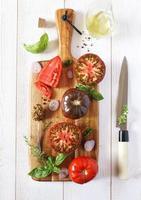 ingredientes para salada de legumes foto