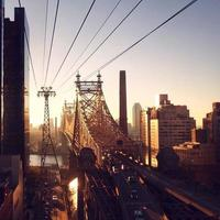 nascer do sol sobre o Queensboro