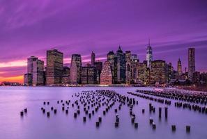 pôr do sol de nova york foto