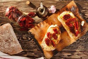 bruschetta com tomate foto